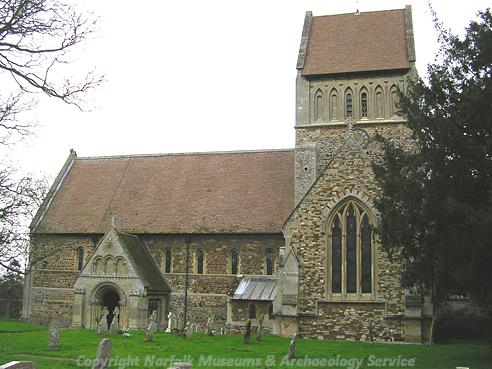 Photograph of St Lawrence's Church, Castle Rising.