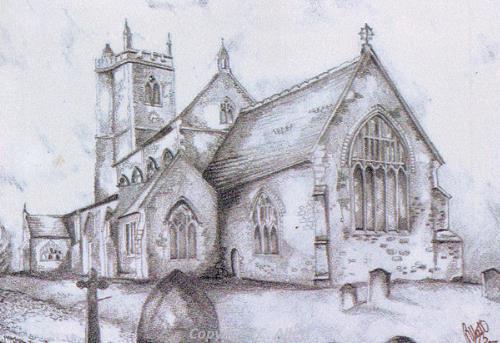All Saints' Church, East Winch by Christina Allett.
