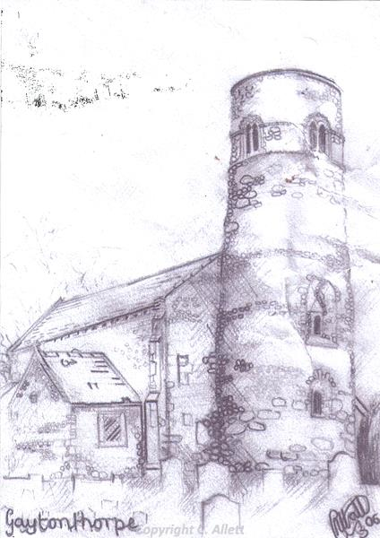 St Mary's Church, Gayton Thorpe by Christina Allett.