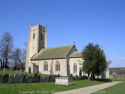 Photograph of St Andrew's Church, Honingham.