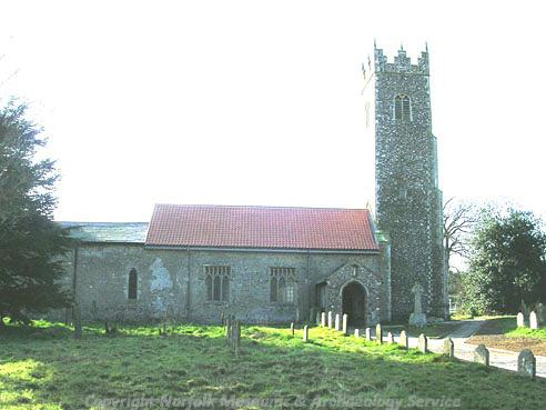 Photograph of St Peter's Church, Strumpshaw.