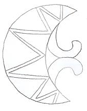Drawing of the template used to make a Roman plate brooch.