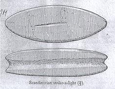 Drawing of a Scandinavian strike a light found at Sandringham.