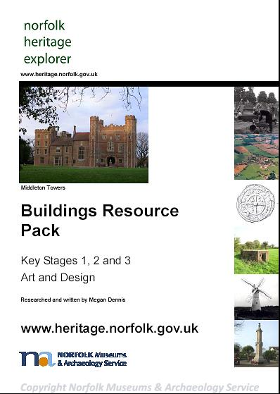 Photograph of the front cover of the Buildings Resource Pack.