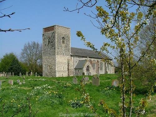 Photograph of All Saints' Church, Skeyton. Photograph from www.norfolkchurches.co.uk