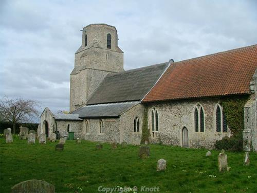 Photograph of Holy Trinity Church, Scoulton. Photograph from www.norfolkchurches.co.uk