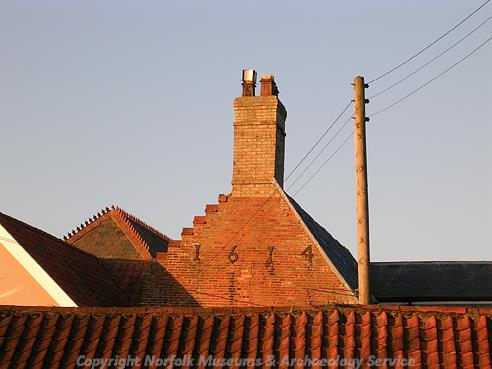 Photograph of the gable of Rysa Lodge, Seething.