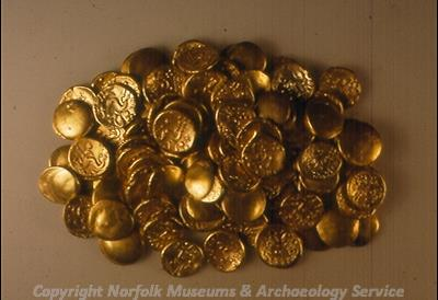 A hoard of gold Iron Age coins from Fring.
