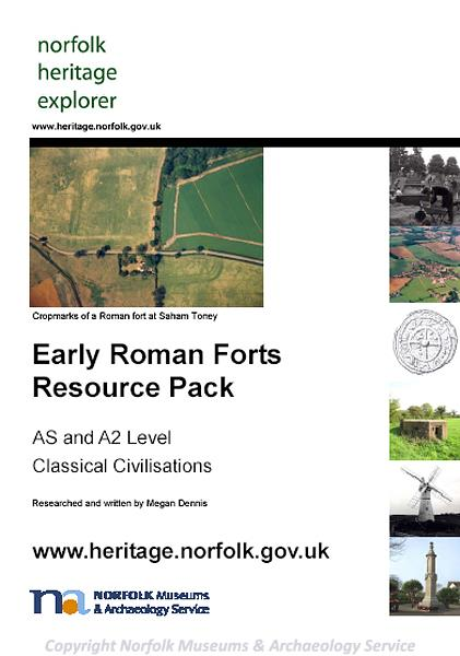 Photograph of the front cover of the Early Roman Forts Resource Pack.