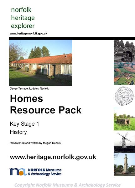Photograph of the front cover of the Homes Resource pack.