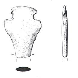 Drawing of a Middle Bronze Age rapier butt from Fulmodeston.