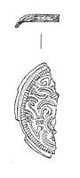 Drawing of part of an Early Saxon saucer brooch from Congham.