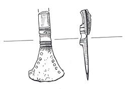 Drawing of part of an Early Saxon small-long brooch from Marham.