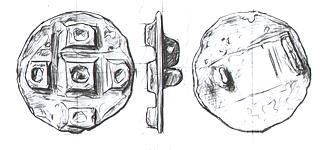 Drawing of an unusual Late Saxon disc brooch of Continental design from Spixworth.