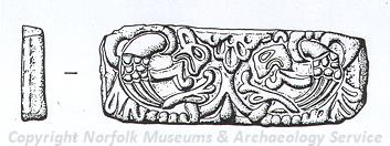 Drawing of a Late Saxon patrix or die from Sporle.