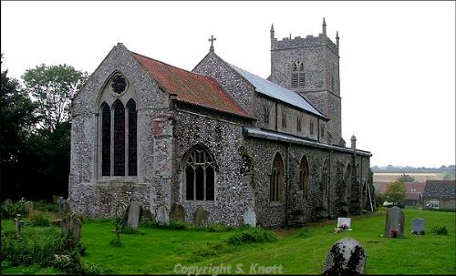 Photograph of St Mary's Church, Sporle with Palgrave. Photograph from www.norfolkchurches.co.uk