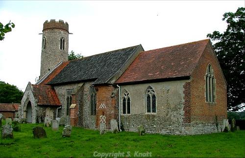 Photograph of St Peter's and St Paul's Church, Sustead. Photograph from www.norfolkchurches.co.uk