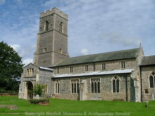 Photograph of St Mary's Church, South Walsham. Photograph from www.norfolkchurches.co.uk