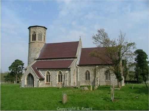 Photograph of All Saints' Church, Stanford. Photograph from www.norfolkchurches.co.uk