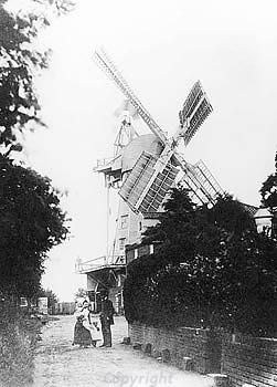 Photograph of a post medieval smock mill in Stalham.