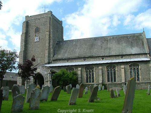 Photograph of St Mary's Church, Stalham. Photograph from www.norfolkchurches.co.uk