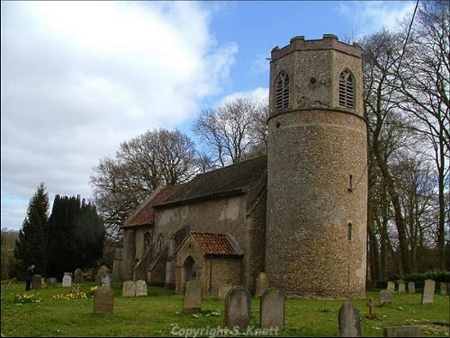 Photograph of All Saints' Church, South Pickenham. Photograph from www.norfolkchurches.co.uk
