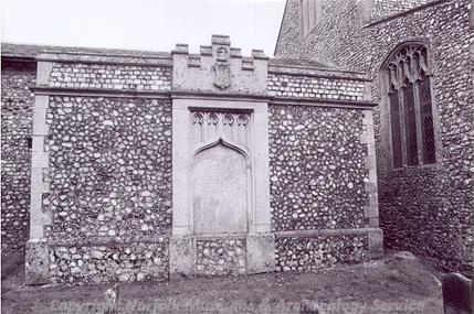 Photograph of Bishop Upcher's mausoleum, All Saints' Church, Upper Sheringham.