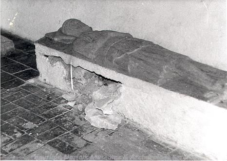 Photograph of a medieval tomb in St George's Church, Southacre.