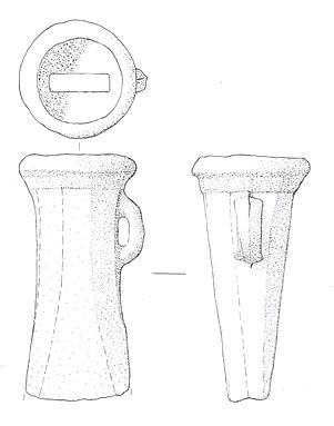 Drawing of a Bronze Age axehead from Stody.