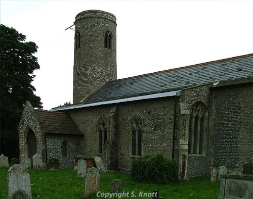 Photograph of All Saints' Church, Thwaite. Photograph from www.norfolkchurches.co.uk