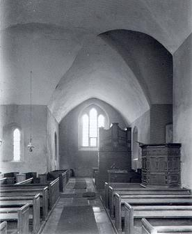 Photograph of the interior of St Lawrence's Church, Tilney St Lawrence.