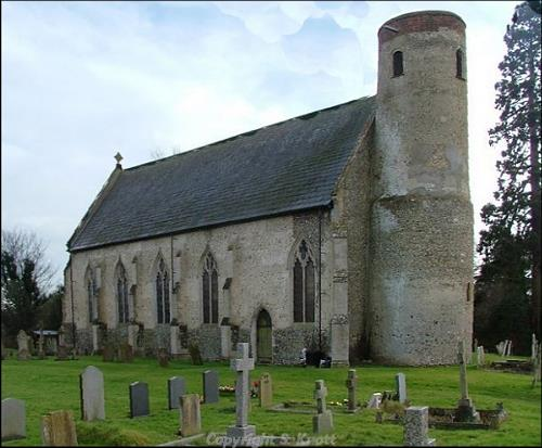 Photograph of All Saints' Church, Wacton. Photograph from www.norfolkchurches.co.uk