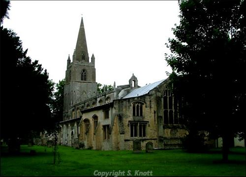 Photograph of All Saints' Church, Walsoken. Photograph from www.norfolkchurches.co.uk