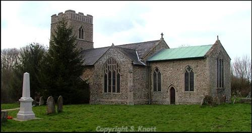 Photograph of St Peter's and St Paul's Church, Wendling. Photograph from www.norfolkchurches.co.uk