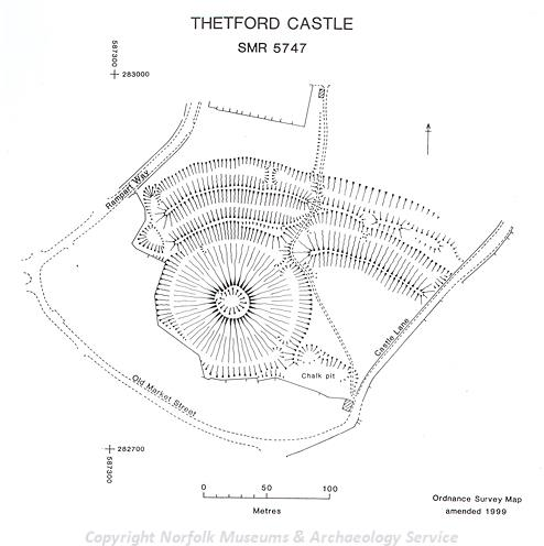 Earthwork Survey of Thetford Castle.