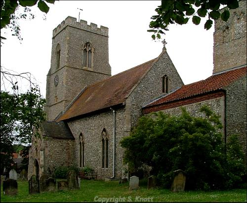 All Saints' Church, Weybourne. Photograph from www.norfolkchurches.co.uk.
