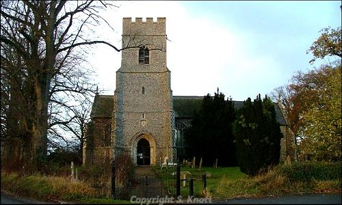 All Saints' Church, Wicklewood. Photograph from www.norfolkchurches.co.uk.