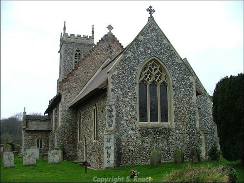 St Fabian and St Sebastian's Church, Woodbastwick. Photograph from www.norfolkchurches.co.uk.