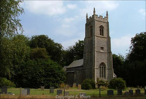 St Botolph's Church, Westwick. Photograph from www.norfolkchurches.co.uk.