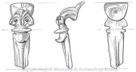 Iron Age silver beaked brooch from Weeting.