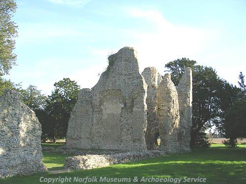 Photograph of Weeting Castle.
