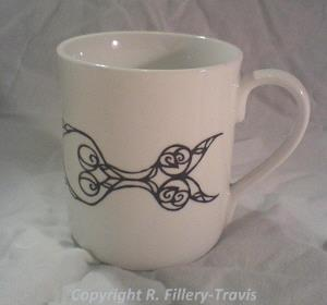 Cup with designs inspired by the Snettisham Treasure.