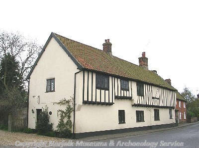 Chaucer House is a 15th or 16th century timber framed and jettied house in Bawdeswell