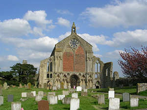 The west front of Binham Priory.
