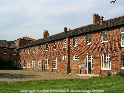 The 18th century former workhouse in Gressenhall. This wing is now the offices of NLA