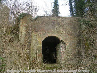 The remains of an early 19th century lime kiln