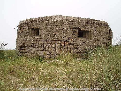 World War Two pillbox on Horsey dunes