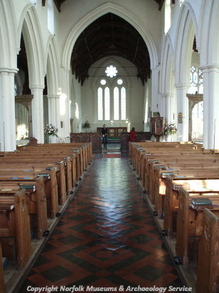 The nave and chancel of St James' Church, Castle Acre