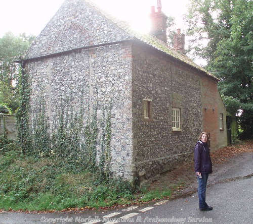 Abbey Cottage, Castle Acre. The cottage may have been the abbey almonry.