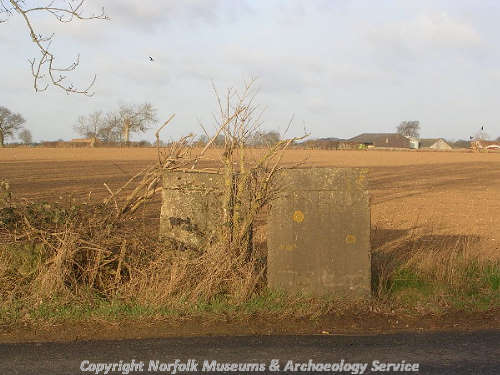 World War Two anti-tank cubes on Attlebridge Airfield.